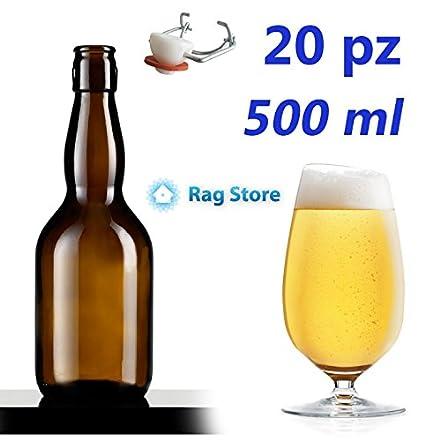 Botella de vidrio tipo Cerveza Pub – 20 piezas – CC. 500 ml