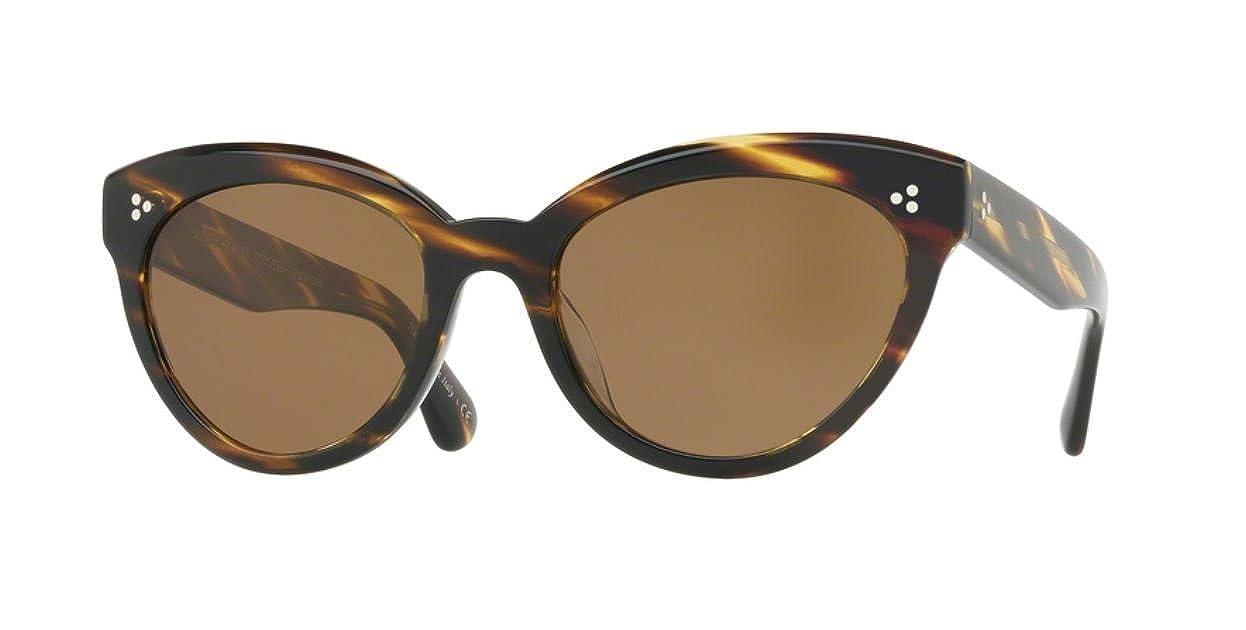 e4fe2a26a5 Amazon.com  Authentic Oliver Peoples OV 5355 SU ROELLA 100383 COCOBOLO  Sunglasses  Clothing