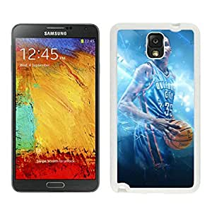 New Custom Design Cover Case For Samsung Galaxy Note 3 N900A N900V N900P N900T Oklahoma City Thunder Kevin Durant 9 White Phone Case