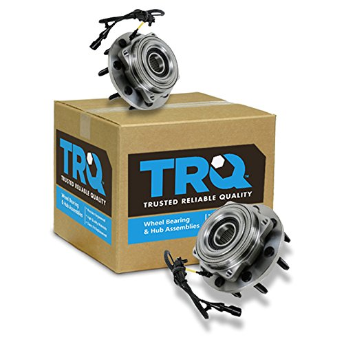 TRQ Front Wheel Hub & Bearing Pair w/ABS 4WD 4x4 SRW for F250 F350 F450 F550 ()