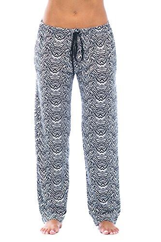 6333-10084-M Just Love Women Pajama Pants - PJs - Sleepwear Zebrarino Black Medium