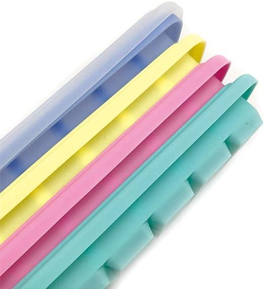 Alvar Bandejas de silicona para cubitos de hielo, 24 rejillas con ...