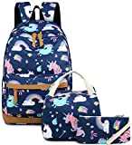 BLUBOON Kids Bookbags School Backpack Laptop Schoolbag for Teens Girls High School (E0026 Dark Blue)