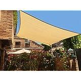 SUNNY GUARD 8u0027 X 12u0027 Sand Rectangle Sun Shade Sail UV Block Outdoor Patio