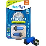 HearRight Volume Control Silicone free Ear Plugs - Ideal for relieving Air Pressure Discomfort during Flight Travel - Large (Travel case included) - Made in USA