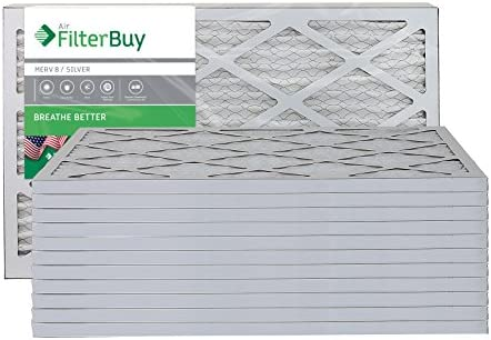 FilterBuy 16x25x1 Pleated Furnace Filters