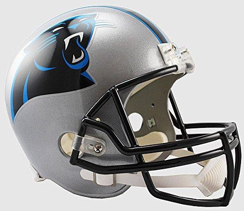 Helmet Carolina Panthers Replica Riddell - Riddell NFL Carolina Panthers Replica Vsr4 Full Size Football Helmet