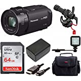 Panasonic HC-V800 Full HD Camcorder Video Creator Bundle