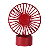 Homyl Creative Mini USB Fan Super Quiet Desktop Office Home Cooling Fan - Red