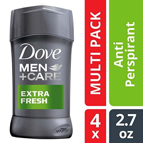 Perspirant Anti Gel Free Alcohol - Dove Men+Care Antiperspirant Deodorant Stick, Extra Fresh, 2.7 oz, 4 count ( Packaging may vary )