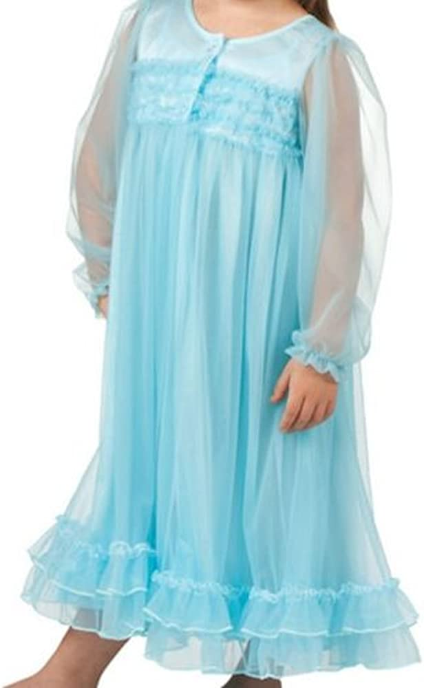 2T-6X Laura Dare Little Girls Princess Peignoir Nightgown and Robe Set,