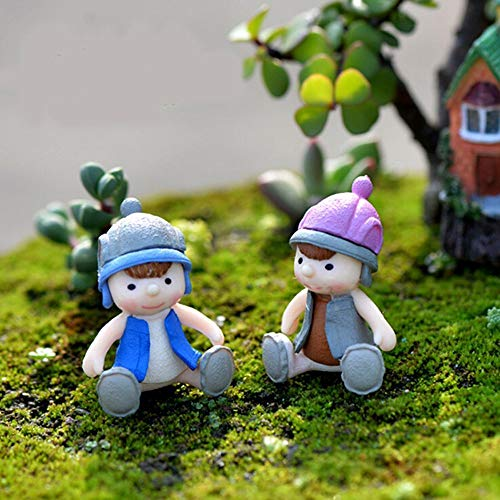Agordo Micro Landscape Resin Moving Forest Miniature Sweet Lover Couple Ornaments