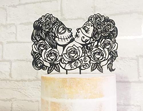 Decoración para tarta del Día de los Muertos, decoración para ...