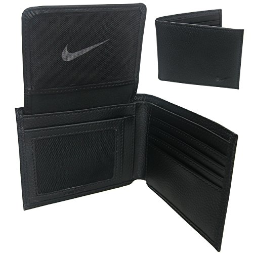 Nike Golf Grain Leather Bi-fold Passcase Black