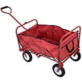 Trendy Collapsible Folding Wagon Cart Garden Buggy Shopping Beach Sports Red New Collapsible Wagon Is Ideal For Carrying Your Things From Place To Place.