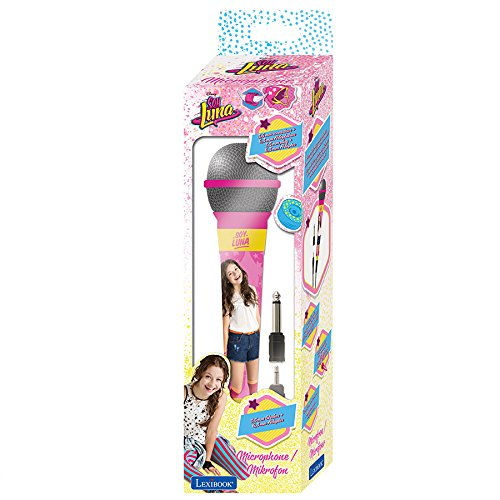 LEXiBOOK Disney Soy Luna Microphone, 3,5 Jack and 6,3 mm Adapter, High Sensitivity, for Kids and Karaoke, Pink/Yellow, MIC100SL by LEXiBOOK (Image #2)
