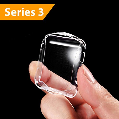 Mobling Designed [Series 3] Apple Watch Screen Protector [42 mm] - Light Weight iWatch Bumper Protection Case & Glass Topper