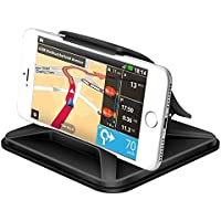 Yiiyaa Cell Phone Holder for Car Universal Dashboard Mounts Silicone Non-Slip Washable GPS Holder Car Cradles for iPhone X 8 7 6 5Plus Samsung Galaxy Note 8 S8 Plus S7 Edge-Black