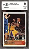 #3: 1996-97 topps #138 KOBE BRYANT los angeles lakers rookie card BGS BCCG 9 Graded Card