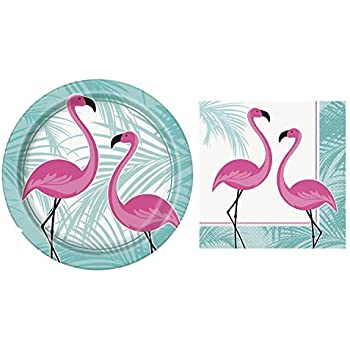 Flamingo Birthday Party Supplies Set RiscaWin Party Set Supplies for 10 Paper Plates  sc 1 st  tonightatnoon.com & Flamingo Birthday Party Supplies Set RiscaWin Party Set Supplies ...