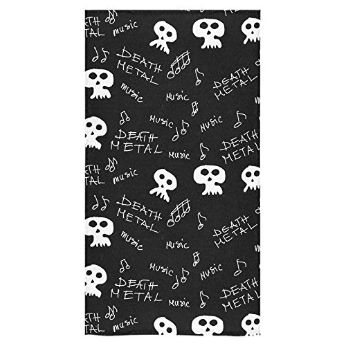 ADEDIY Fashion Custom Towel Death Metal Texture and Pattern