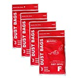12 Royal Dirt Devil Canister Type F Allergy Vacuum Bags, Can Vac, Power Pak Vacuum Cleaners, 3-200147-001, 3200147001, 200147, RY200147, 3-300475-001, 3300475001, 300475, 3-200348-001, 3200348001, 200348, 1-200103-001,1200103001, 200103, 2160, 2160CA