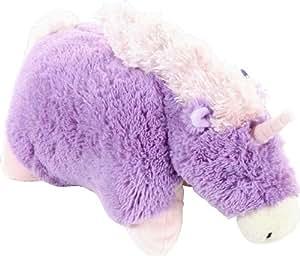 Pillow Pets 2142 - Cojín de peluche con diseño de unicornio, color morado y rosa