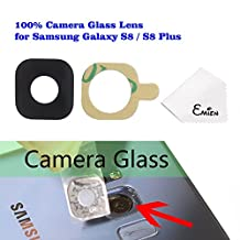 EMiEN Rear Back Camera Glass Lens Replacement with Adhesive for Samsung Galaxy S8 G950A G950V G950T G950P G950 / S8 Plus G955A G955V G955T G955P G955