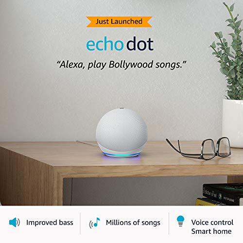Echo Dot (4th Gen, 2020 release)  #1 smart speaker brand in India with Alexa (White)