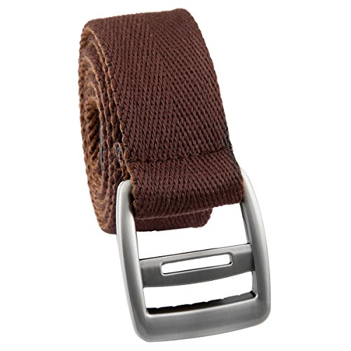 Samtree Canvas Web Belts for Men Women,Adjustable Mix Color Simple Buckle Belt(Coffee & Brown)