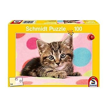 Schmidt Spiele Puzzle 56249 Parejita de Gato Niño, niño Rompecabezas, 100 Piezas: Amazon.es: Juguetes y juegos