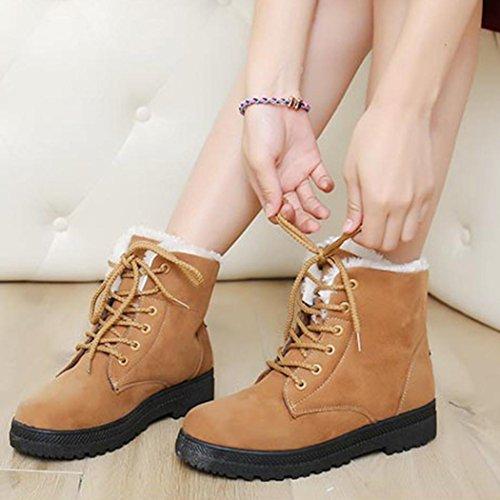de Botas Zapatos invierno interiores Amlaiworld marrón xwxRtPq