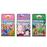 Melissa & Doug On the Go Water Wow! Water Reveal Pads, Set of 3 - Makeup and Manicures, Fairy Tales, Animals