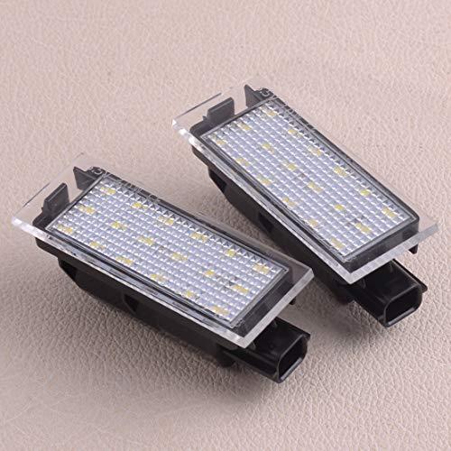 1 Pair Car 18 LEDs White Number License Plate Light Lamp Fit for Renault Clio MK III/Laguna MK II/Vel Satis ()