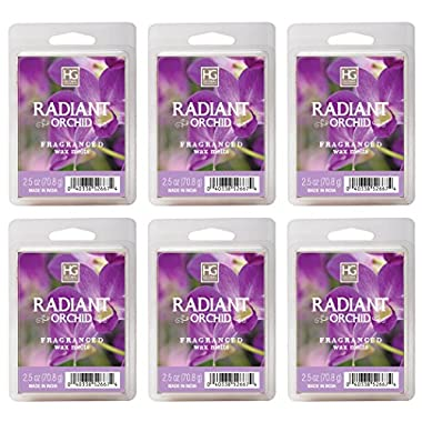Hosley's Radiant Orchid Wax Cubes / Melts - Set of 6 / 2.5 oz each. Hand poured wax infused with essential oils.