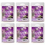 Hosley Radiant Orchid Wax Cubes/Melts - Set of 6/2.5 oz each. Hand poured wax infused with essential oils, Orchids Floral & Lemon Grass scents. Ideal Wedding Spa, Reiki Meditation. O4