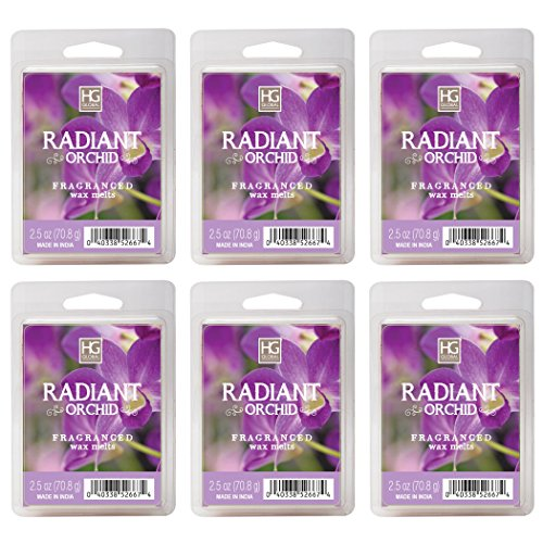 Hosley Radiant Orchid Wax Cubes/Melts - Set of 6/2.5 oz each