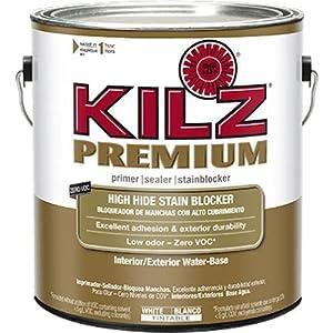 kilz premium high hide stain blocking interior exterior latex primer sealer white. Black Bedroom Furniture Sets. Home Design Ideas