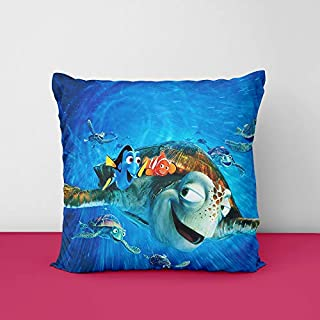 51DYfJ3RL7L. SS320 Aqua Fish Square Design Printed Cushion Cover