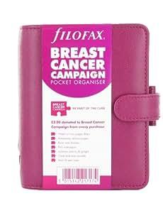 Filofax Pocket BCC - Agenda de anillas con diseño de apoyo a la lucha contra el cáncer de mama, color rosa