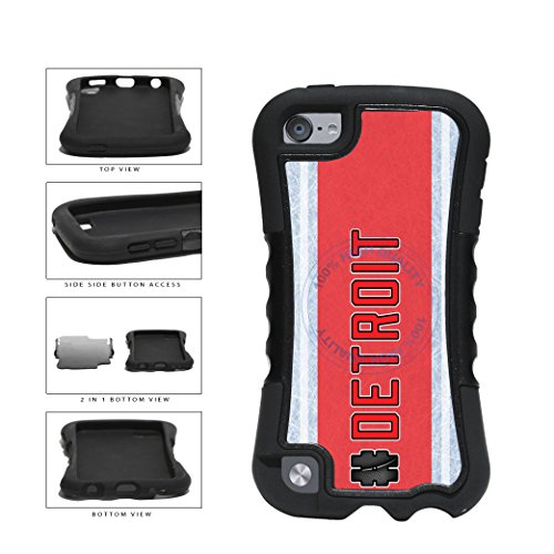 Wings Skin Red Ipod Detroit (BleuReign(TM) Hockey Team Hashtag Detroit #Detroit 2-Piece Dual Layer Phone Case Back Cover For Apple iPod Touch 5th Generation)