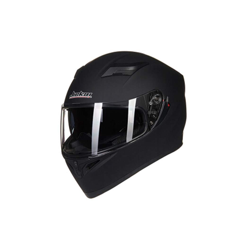 電動車のヘルメット女性のレースバイクフルフェイスヘルメット男性のHD防曇二重レンズ小さなメディア頭の周58~60センチメートルダム黒四季に適した普遍的な人格クール (色 : Anti-fog, サイズ さいず : L 58-60cm) L 58-60cm Anti-fog B07KVFZ1P7