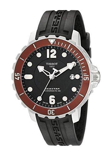 Tissot Men's T0664071705703 Seastar Analog Display Swiss Automatic Black Watch
