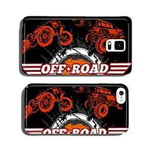 Vector emblem with off-road cars cell phone cover case iPhone6 Plus