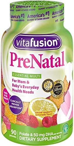 Vitafusion Pre Natal Gummy Vitamins Dietary Supplement, Lemon & Raspberry Lemonade Flavors 90 Each