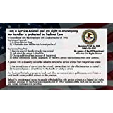 Service Dog Cards - 50 ADA Service Dog Information Cards State Your Rights - Service Dog ADA Info Cards state your legal rights - Give them to people that don't know your rights which allow you to bring your dog anywhere