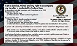 Service Dog Cards – 50 Service Dog Information Cards State Your Rights, My Pet Supplies
