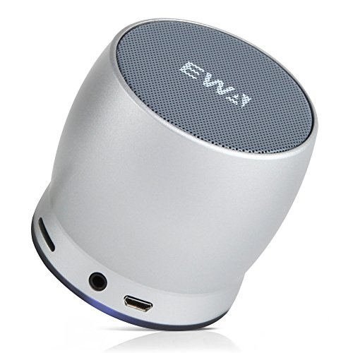 EWA Mini Bluetooth Speakers A150 Portable Speaker with HD Sound and Bass (Silver)