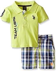 U.S. Polo Assn. Baby-Boys Polo and Short