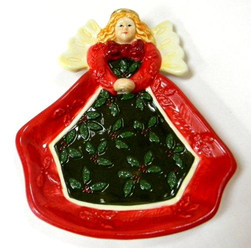 - Studio Nova Woodland Holly Santa Angel Candy Dish 6